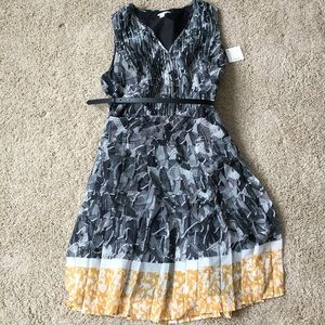 NWT Belted Graphic Dress
